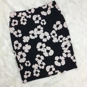 Loft Floral Pencil Skirt sz. 6